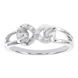 H Star Sterling Silver Diamond Accent Infinity Promise Ring (H-I, I2-I3)