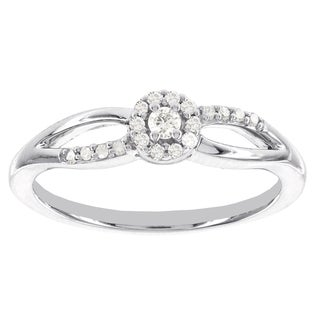 H star 10k White Gold 1/6ct TDW Diamond Promise Ring (I-J, I2-I3)