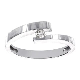 H Star 14k White Gold 1/10ct TDW Diamond Promise Ring (H-I, I1-I2)