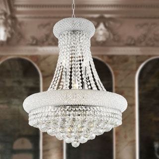 "French Empire Collection 14 light Chrome Finish with Clear Crystal Chandelier 20"" x 26"""