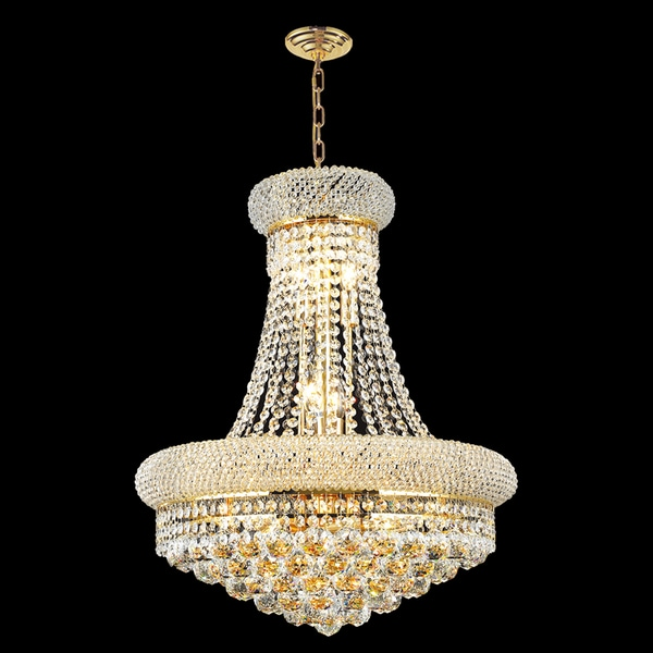 "French Empire Collection 14 Light Gold Finish and Clear Crystal Chandelier 20"" x 26"""