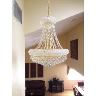 """French Empire Collection 14 Light Gold Finish and Clear Crystal Chandelier 20"""" x 26"""""""