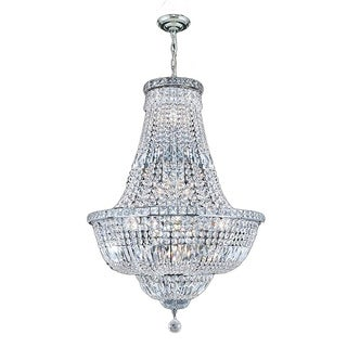 """French Empire Collection 22 light Chrome Finish and Clear Crystal Chandelier 22"""" x 31"""""""