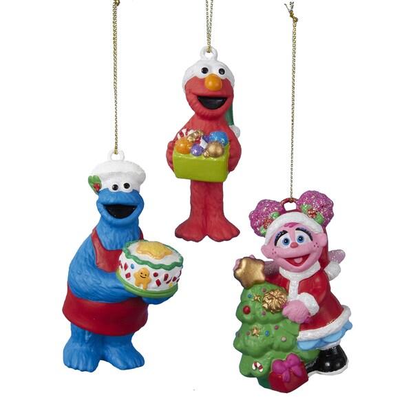 Kurt Adler 3.125-Inch - 3.75-Inch Sesame Street Ornament Set of 3 16298433