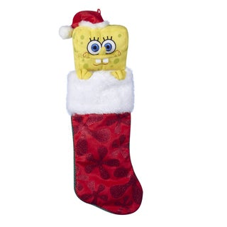 "Kurt Adler 24"" SpongeBob Plush Head Stocking"