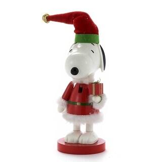Kurt Adler Snoopy in Red Santa Suit Nutcracker