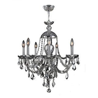 """Venetian Collection 7 Light Chrome Finish and Chrome Crystal Chandelier 26"""" x 28"""""""