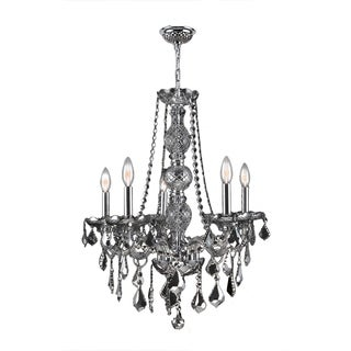 """Venetian Collection 5 Light Chrome Finish and Chrome Crystal Chandelier 21"""" x 26"""""""