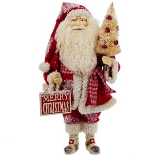 Kurt Adler 17 in. Ivory and Red Standing Santa