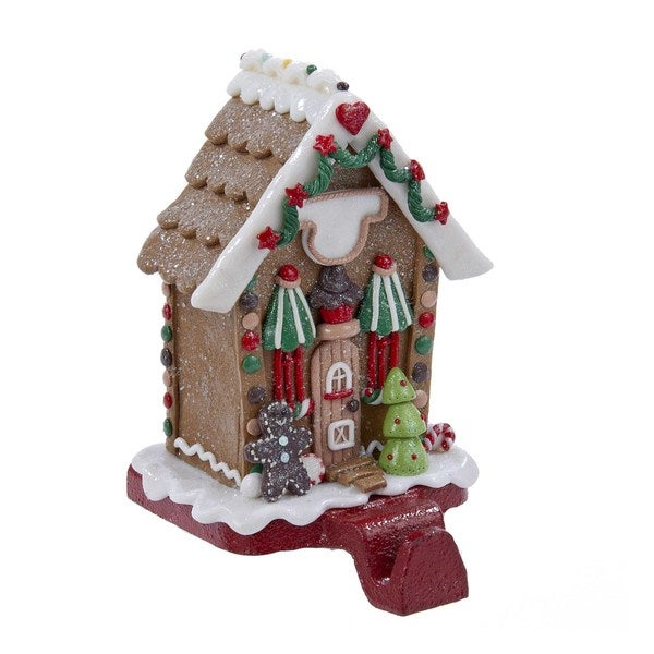 Kurt Adler 5.5 in. Gingerbread House Stocking Holder