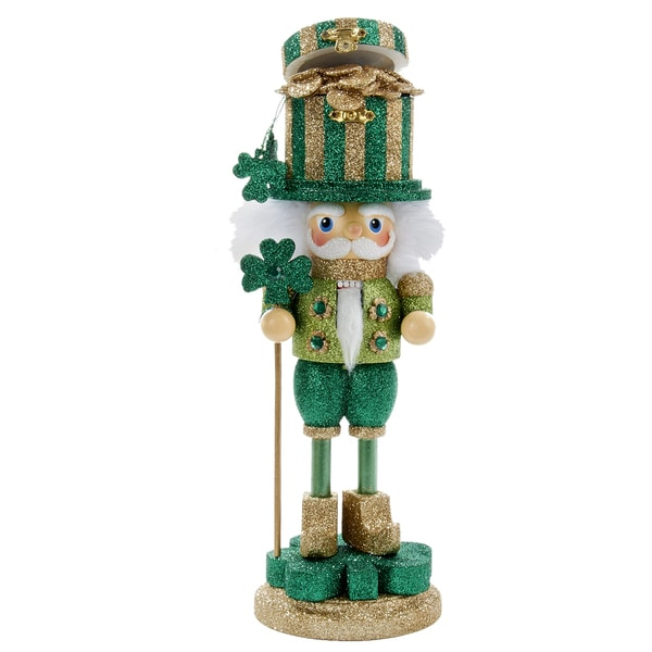 Kurt Adler 12 in. Hollywood Irish Pot of Gold Nutcracker
