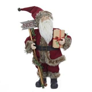 Kurt Adler 16 in. Burgundy Standing Santa