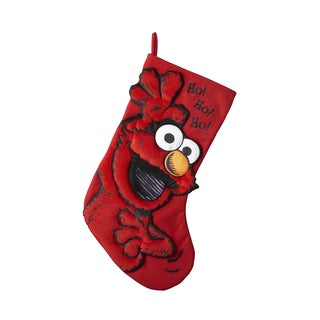 "Kurt Adler 17"" Sesame Street Elmo Applique Stocking"