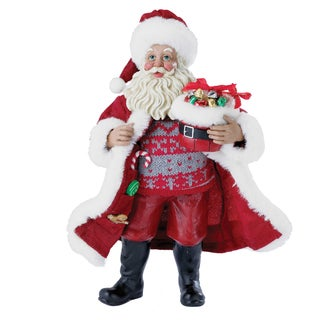 Kurt Adler 10 in. Candy Santa