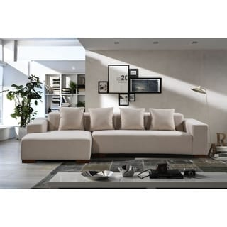 Beliani Lungo Modern Fabric Sectional Sofa