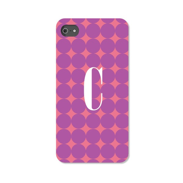 Purple Polka-dot Personalized iPhone 4 Case