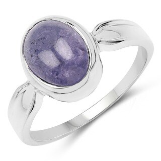 Malaika Sterling Silver 3 3/5ct Tanzanite Ring