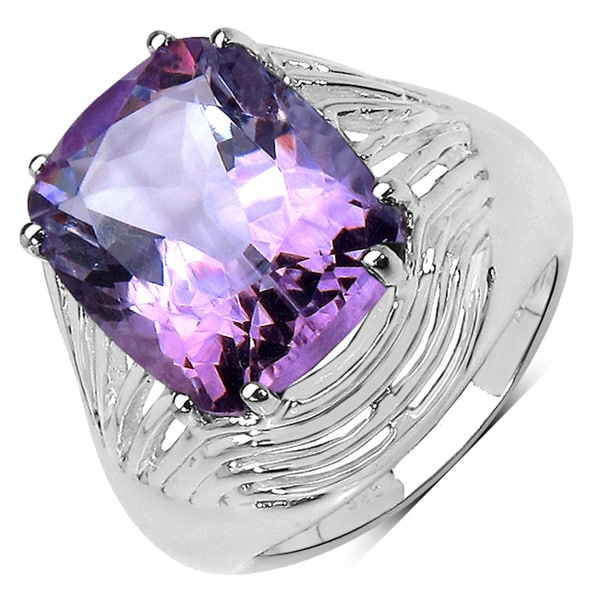 Malaika Sterling Silver 9ct Amethyst Ring