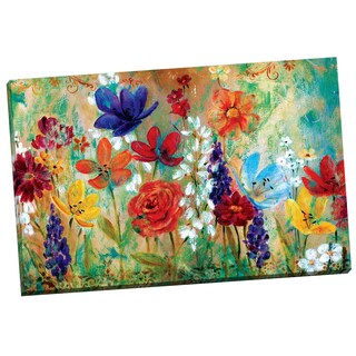 Portfolio Canvas Decor 'Wildflower Fresco I' by E. Franklin Gallery Wrapped Canvas