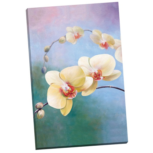 Portfolio Canvas Decor 'Yellow Orchids' by G. Salman Gallery Wrapped Canvas