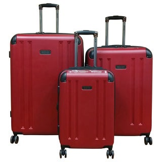 Kenneth Cole 8-Wheelin Red 3-piece Hardside Spinner Luggage Set