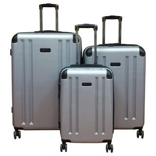 Kenneth Cole 8-Wheelin Silver 3-piece Hardside Spinner Luggage Set