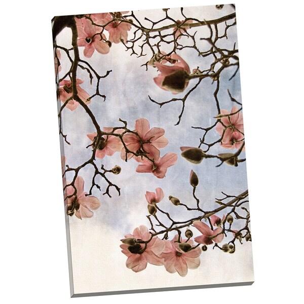 Portfolio Canvas Decor 'Tulip Magnolia 3' by Thea Schrack Gallery Wrapped Canvas