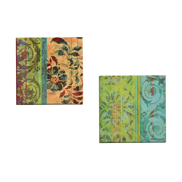 Portfolio Canvas Decor 'Bohemian Blossom' by Ciela Bloom Gallery Wrapped Canvas (Set of 2)