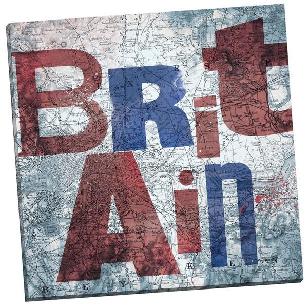 Portfolio Canvas Decor 'Britain Map II' by IHD Studio Gallery Wrapped Canvas