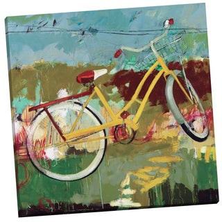 Portfolio Canvas Decor 'Yellow Bicycle' by Jennifer Rasmusson Gallery Wrapped Canvas