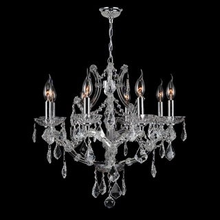 """Maria Theresa Collection 8 Light Chrome Finish and Clear Crystal Chandelier 26"""" x 22"""""""
