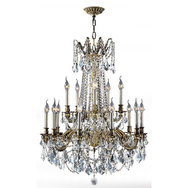 Italian Elegance Collection 15 Light Antique Bronze Finish And Crystal