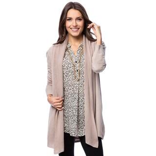 Hadari Women's Long Open Front Cardigan