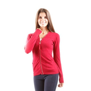 Hadari Women's Zip Up Cardigan