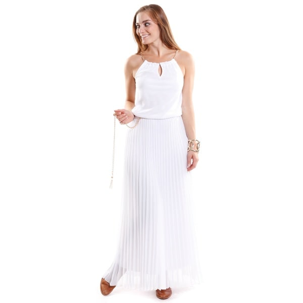 Hadari Women's Grecian Halter Dress