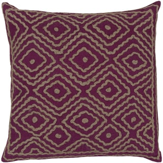 Beth Lacefield Decorative Sergio Geometric Feather and feather and down or Polyester Filled 20-inch Throw Pillow