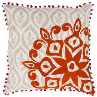 Kate Spain Decorative Justin Floral Feather/ Down or Polyester Filled 20-inch Throw Pillow