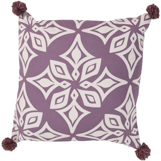 KD Spain Decorative Elaina Floral Feather/ Down or Polyester Filled 20-inch Pillow