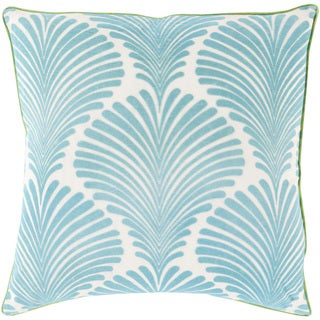 Florence de Dampierre Decorative Darryl Floral Feather/ Down or Polyester Filled 22-inch Pillow