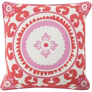KD Spain Decorative Carmen Floral Down and Feather or Polyester Filled 22-inch Pillow
