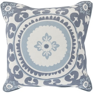 KD Spain Decorative Carmen Floral Down and Feater or Polyester Filled 18-inch Pillow