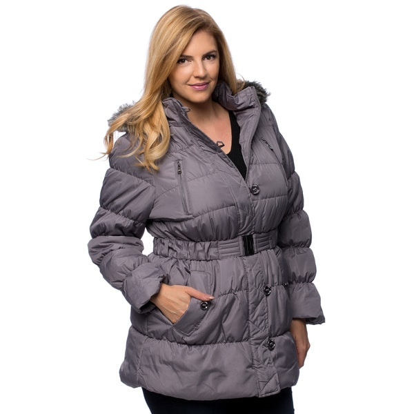 Sportoli Junior Women's Down Alternative Fleece Lined Long Puffer Bubble Coat - Plus Sizes