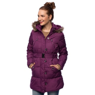 Sportoli Junior Women's Down Alternative Fleece Lined Long Puffer Bubble Coat