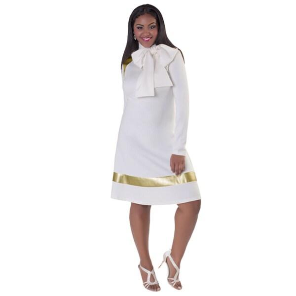 Kayla Collection Women's Flattering Peplum Effect Dress