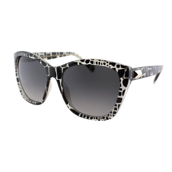 Emilio Pucci Womens EP 732S 065 Shiny Black Zebra Plastic Sunglassesye Sunglasses