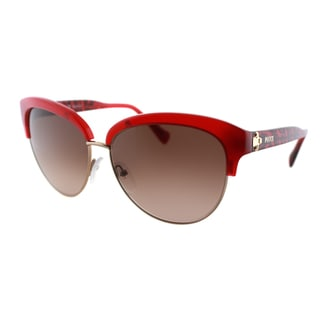 Emilio Pucci Women's EP 724S 639 Rouge And Light Gold Plastic Cat Eye Sunglasses