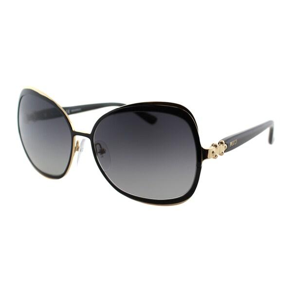 Emilio Pucci Women's EP 134S 016 Black And Gold Square Metal Sunglasses