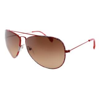 Emilio Pucci Women's EP 125S 800 Red Pucci Print Aviator Sunglasses