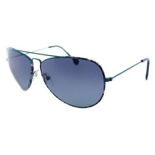 Emilio Pucci Women's EP 125S 440 Blue Pucci Print Aviator Sunglasses