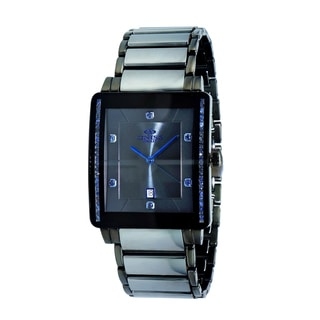 Oniss Mens ON613-MTT/607 Stainless Steel and Tungsten with Genuine Sapphire Gemstone